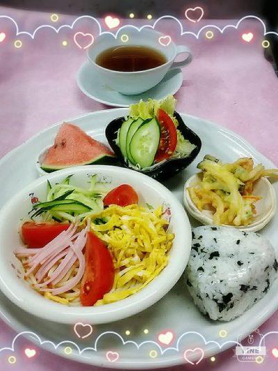 お花会2017年6月24日食事